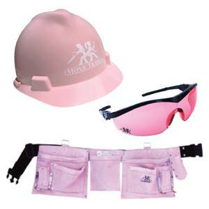 """Coloring men's safety equipment pink, does not make it """"specially made for women."""" It just makes it pink. And pink sucks."""